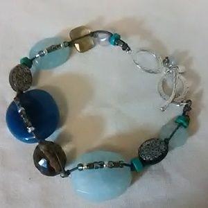 Silpada sterling silver gemstone  beaded Bracel